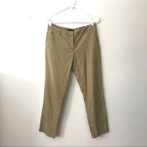 Theory Zenis Camel Tan Linen Blend Ankle Pants 6
